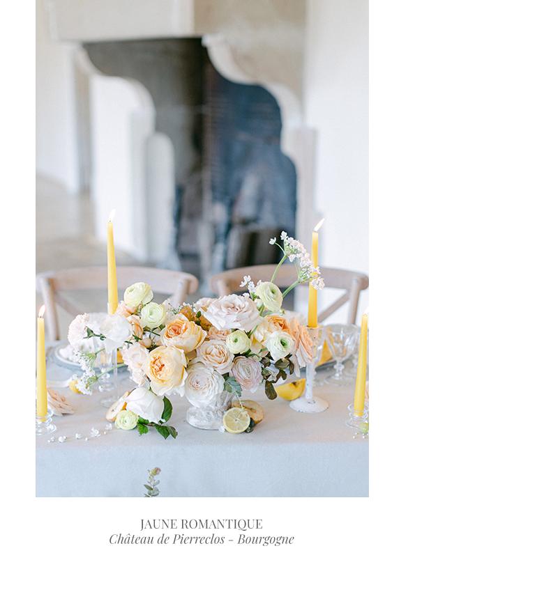 Mariage pastel chic et raffiné au château de Pierreclos - Bourgogne